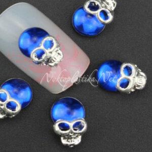 Сини черепчета за нокти