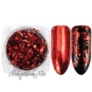 Червено фолио на люспи за нокти