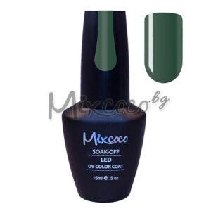 Зелен гел лак за нокти Mixcoco