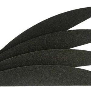 Черна пила за нокти полумесец