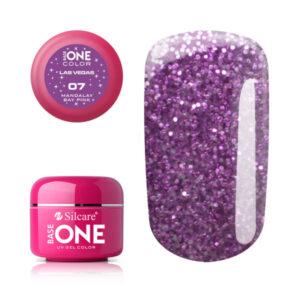 Виолетов гел с брокат