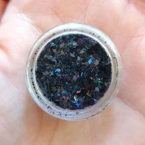 Черни конфети за нокти - микс