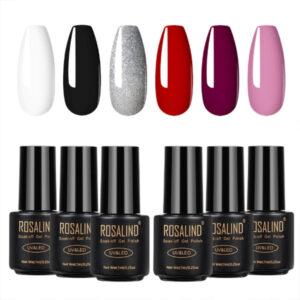 Комплект 6 цвята гел лак Rosalind