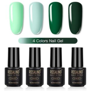 Комплект 4 гел лака Rosalind в зелена гама