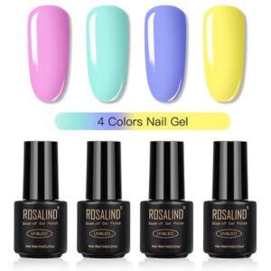 Комплект 4 гел лака Rosalind в пастелни цветове
