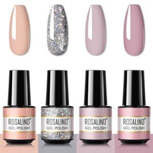 Комплект 4 цвята розови и брокатени цветове Rosalind
