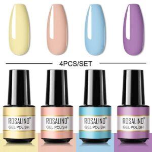 Комплект 4 цвята светли гел лакове Rosalind